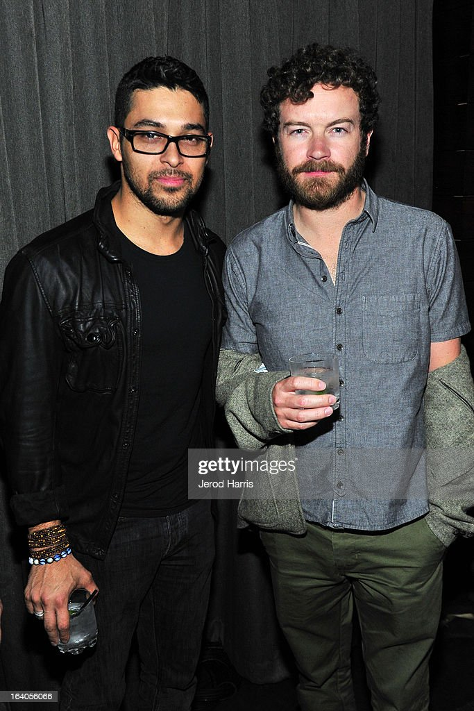 Actors <a gi-track='captionPersonalityLinkClicked' href=/galleries/search?phrase=Wilmer+Valderrama&family=editorial&specificpeople=202028 ng-click='$event.stopPropagation()'>Wilmer Valderrama</a> (L) and <a gi-track='captionPersonalityLinkClicked' href=/galleries/search?phrase=Danny+Masterson&family=editorial&specificpeople=239512 ng-click='$event.stopPropagation()'>Danny Masterson</a> attend 'Olympus Has Fallen' Premiere Reception presented by Grey Goose Vodka at Lure on March 18, 2013 in Hollywood, California.