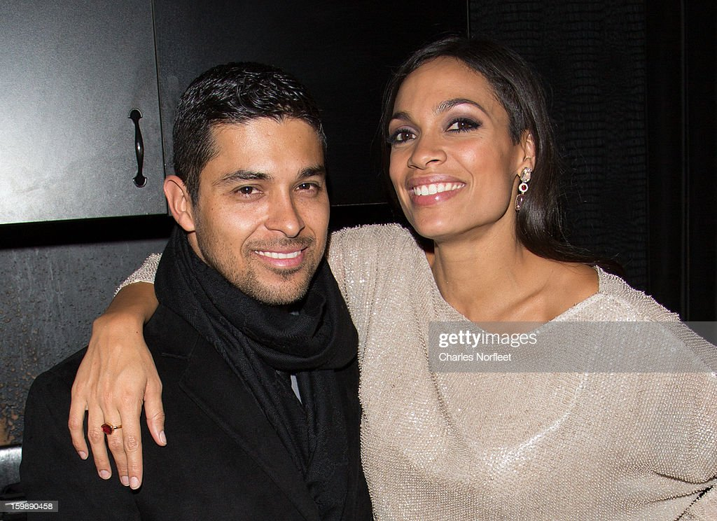 Actors <a gi-track='captionPersonalityLinkClicked' href=/galleries/search?phrase=Wilmer+Valderrama&family=editorial&specificpeople=202028 ng-click='$event.stopPropagation()'>Wilmer Valderrama</a> and <a gi-track='captionPersonalityLinkClicked' href=/galleries/search?phrase=Rosario+Dawson&family=editorial&specificpeople=201472 ng-click='$event.stopPropagation()'>Rosario Dawson</a> attend the Voto Latino 'Welcome To 1600 Part II' Inaugural Gala at Josephine on January 21, 2013 in Washington, DC.