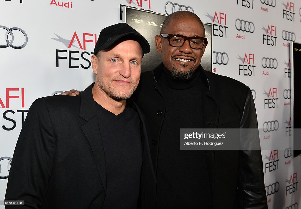 Actors <a gi-track='captionPersonalityLinkClicked' href=/galleries/search?phrase=Woody+Harrelson&family=editorial&specificpeople=208923 ng-click='$event.stopPropagation()'>Woody Harrelson</a> (L) and <a gi-track='captionPersonalityLinkClicked' href=/galleries/search?phrase=Forest+Whitaker&family=editorial&specificpeople=226590 ng-click='$event.stopPropagation()'>Forest Whitaker</a> attend the screening of 'Out of the Furnace' during AFI FEST 2013 presented by Audi at TCL Chinese Theatre on November 9, 2013 in Hollywood, California.