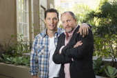 Actors Woody Harrelson and Matthew McConaughey are photographed for USA Today on January 10 2014 in Los Angeles California