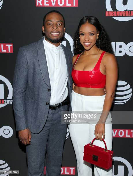 Actors Woody McClain and Michelle Mitchenor attend the 21st Annual Urbanworld Film Festival at AMC Empire 25 theater on September 21 2017 in New York...