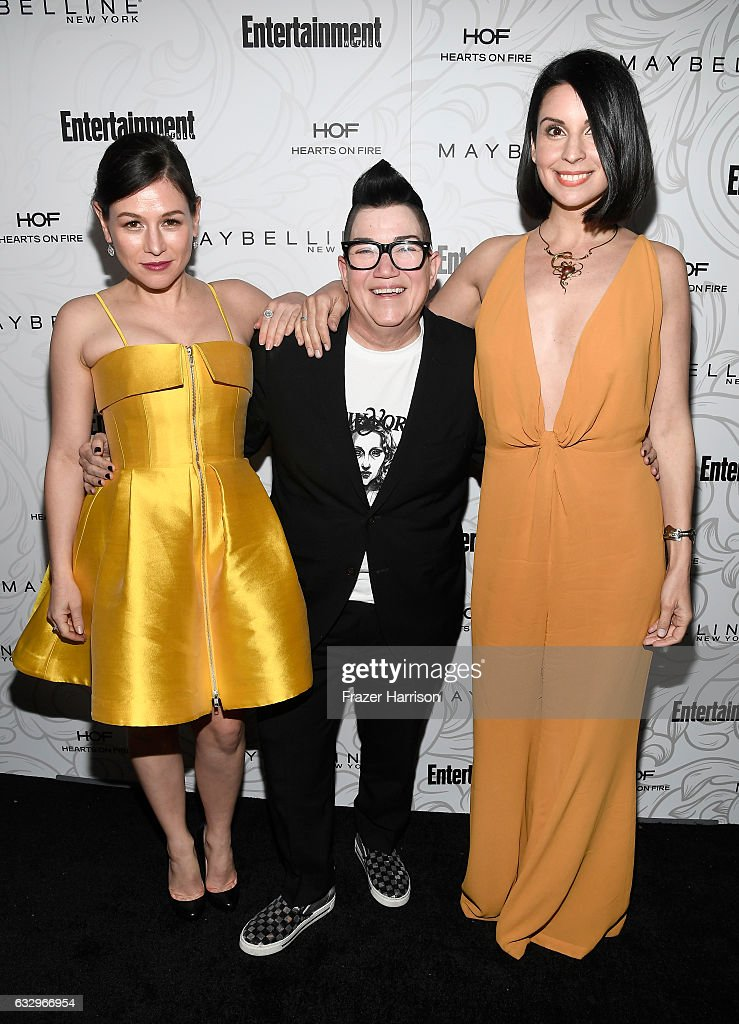 Actors Yael Stone, Lea DeLaria and Beth Dover attend the Entertainment Weekly Celebration of SAG Award Nominees sponsored by Maybelline New York at Chateau Marmont on January 28, 2017 in Los Angeles, California.
