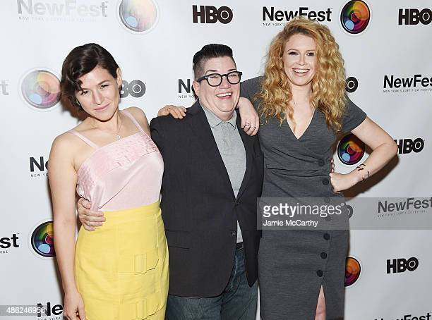 Actors Yael Stone Natasha Lyonne and Lea DeLaria attend the New York premiere of 'Addicted To Fresno' at SVA Theater on September 2 2015 in New York...