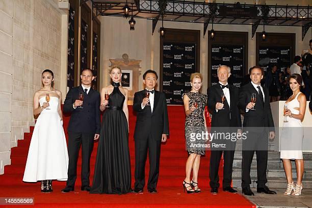 Actors Yao Chen Clemens Schick Amber Heard Managing Director Montblanc China Thomas Kuh actress Naomi Watts CEO Montblanc International Lutz Bethge...