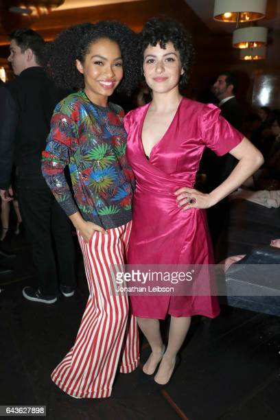 Actors Yara Shahid and Alia Shawkati attend Vanity Fair and L'Oreal Paris Toast to Young Hollywood hosted by Dakota Johnson and Krista Smith at...