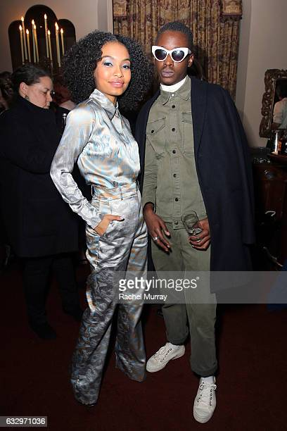 Actors Yara Shahidi and Ashton Sanders attend the Entertainment Weekly Celebration of SAG Award Nominees sponsored by Maybelline New York at Chateau...