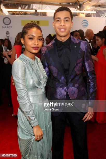 Actors Yara Shahidi and Marcus Scribner attend the 48th NAACP Image Awards at Pasadena Civic Auditorium on February 11 2017 in Pasadena California