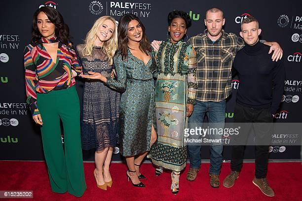 Actors Yasmine al Massri Johanna Braddy Priyanka Chopra Aunjanue Ellis Jake McLaughlin and Russell Tovey attend PaleyFest New York 2016 presents...