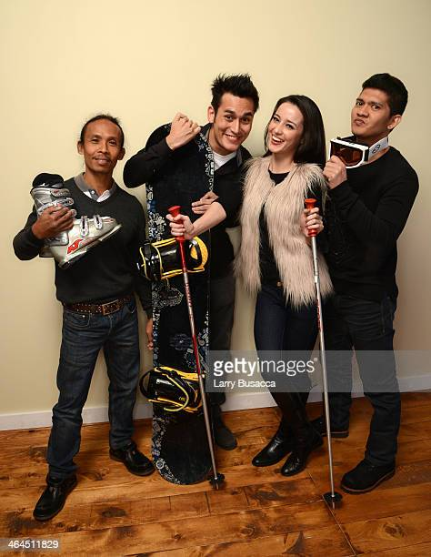 Actors Yayan Ruhian Arifin Putra Julie Estelle and Iko Uwais pose for a portrait during the 2014 Sundance Film Festival at the Getty Images Portrait...