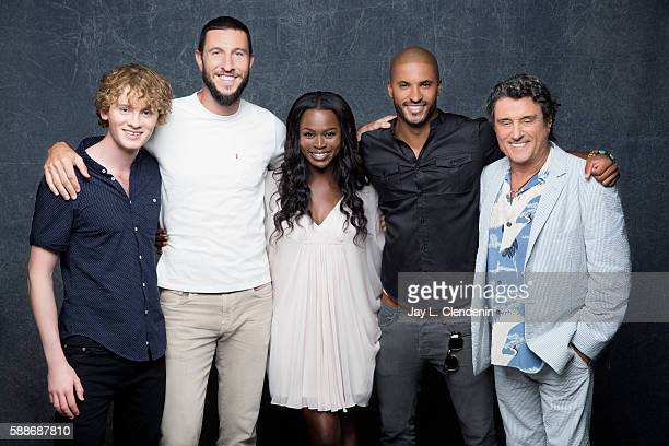 Actors Yetide Badaki Pablo Schreiber Bruce Langley Ricky Whittle and Ian McShane of 'American Gods' are photographed for Los Angeles Times at San...