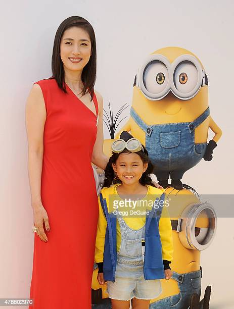 Actors Yuki Amami and Saika Fujita arrive at the premiere of Universal Pictures and Illumination Entertainment's 'Minions' at The Shrine Auditorium...