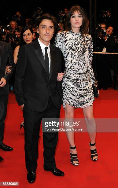 Actors Yvan Attal and Charlotte Gainsbourg attend the 'Antichrist' premiere at the Grand Theatre Lumiere during the 62nd Annual Cannes Film Festival...