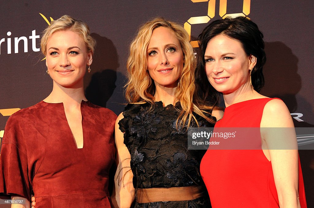 Actors <a gi-track='captionPersonalityLinkClicked' href=/galleries/search?phrase=Yvonne+Strahovski&family=editorial&specificpeople=4387578 ng-click='$event.stopPropagation()'>Yvonne Strahovski</a>, <a gi-track='captionPersonalityLinkClicked' href=/galleries/search?phrase=Kim+Raver&family=editorial&specificpeople=213709 ng-click='$event.stopPropagation()'>Kim Raver</a> and <a gi-track='captionPersonalityLinkClicked' href=/galleries/search?phrase=Mary+Lynn+Rajskub&family=editorial&specificpeople=545522 ng-click='$event.stopPropagation()'>Mary Lynn Rajskub</a> attend 24: Live Another Day World Premiere Event for Fox on Intrepid Sea, Air & Space Museum on May 2, 2014 in New York City.