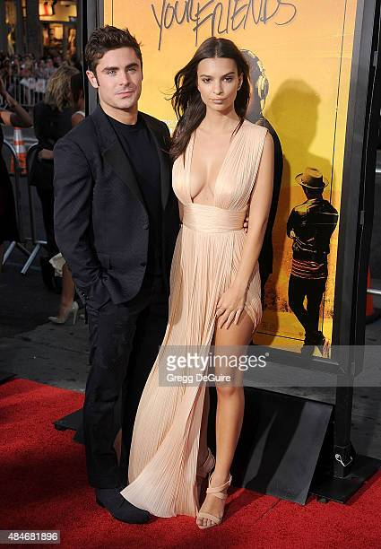 Actors Zac Efron and Emily Ratajkowski arrive at the premiere of Warner Bros Pictures' 'We Are Your Friends' at TCL Chinese Theatre on August 20 2015...