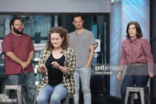 Actors Zach Cherry Chelsea Clarke Michael Cruz Kayne and Abra Tabak members of the Upright Citizens Brigade Theatre visit Build to discuss 'The Del...