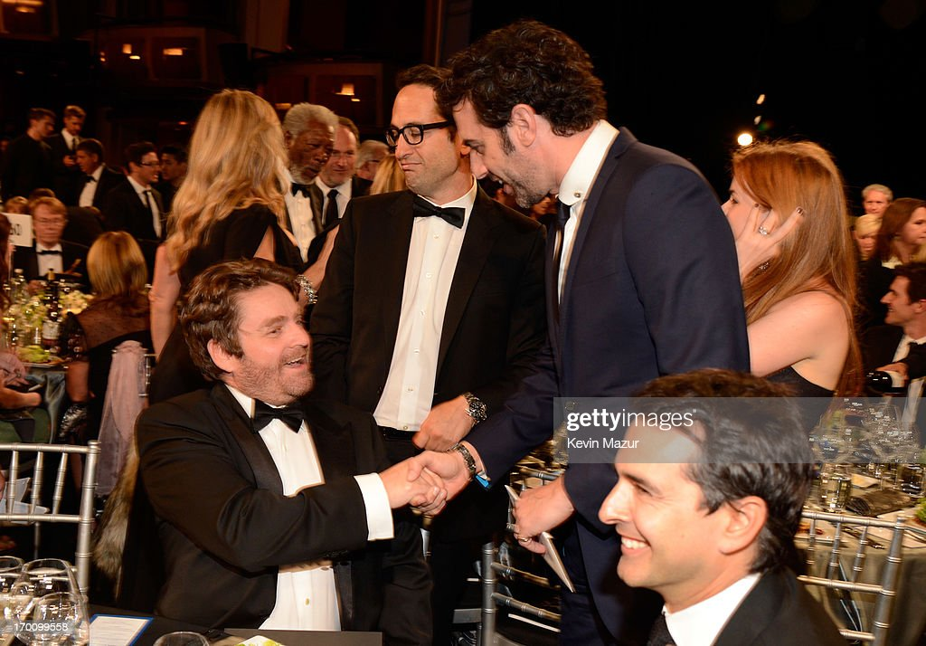 Actors Zach Galifianakis and Sacha Baron Cohen attend AFI's 41st Life Achievement Award Tribute to Mel Brooks at Dolby Theatre on June 6, 2013 in Hollywood, California. 23647_004_KM_0515.JPG