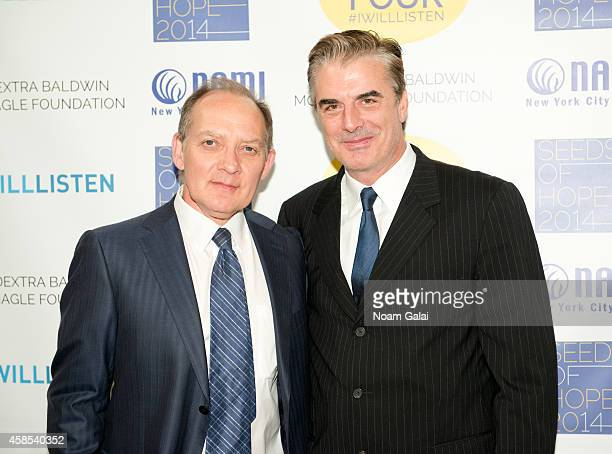 Actors Zach Grenier and Chris Noth attend the 2014 NAMINYC Metro Seeds of Hope Gala at Altman Building on November 6 2014 in New York City