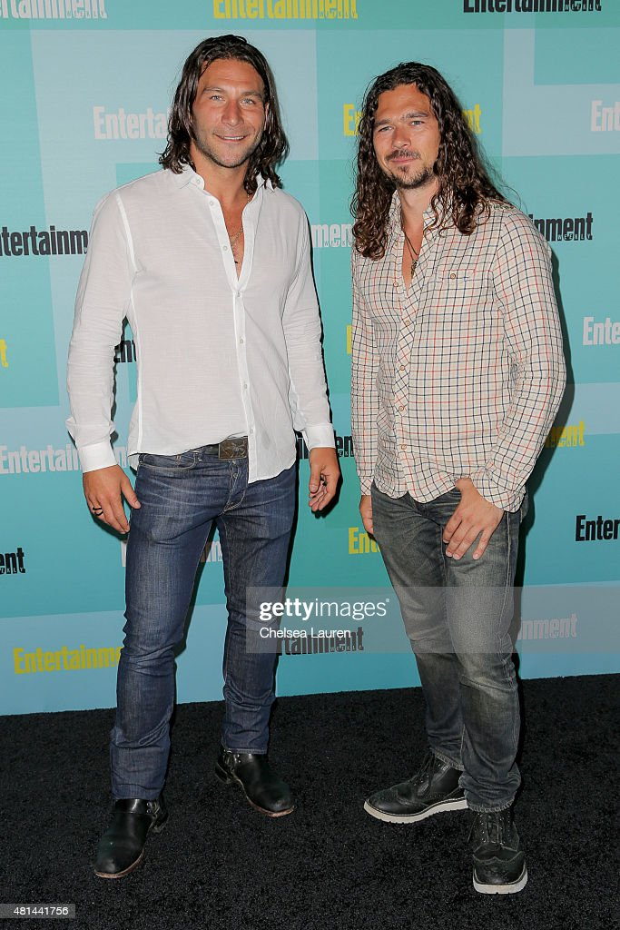 Actors <a gi-track='captionPersonalityLinkClicked' href=/galleries/search?phrase=Zach+McGowan&family=editorial&specificpeople=5583928 ng-click='$event.stopPropagation()'>Zach McGowan</a> (L) and <a gi-track='captionPersonalityLinkClicked' href=/galleries/search?phrase=Luke+Arnold&family=editorial&specificpeople=5991385 ng-click='$event.stopPropagation()'>Luke Arnold</a> arrive at the Entertainment Weekly celebration at Float at Hard Rock Hotel San Diego on July 11, 2015 in San Diego, California.