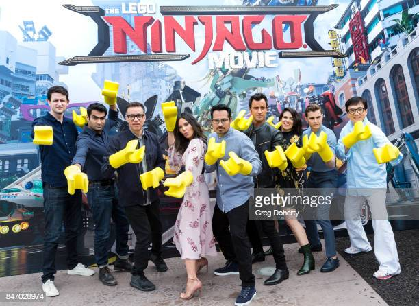 Actors Zach Woods Kumail Nanjiani Fred Armisen Olivia Munn Michael Pena Justin Theroux Abbi Jacobson Dave Franco and Jackie Chan attend the Cast...