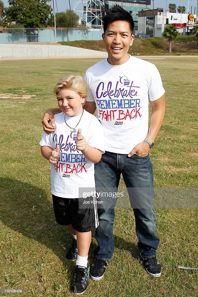Actors Zachary Alexander Rice and Herman Chan attends American Cancer Society's 2nd Annual Relay For Life Of Hollywood on July 30, 2011 in Hollywood, California.