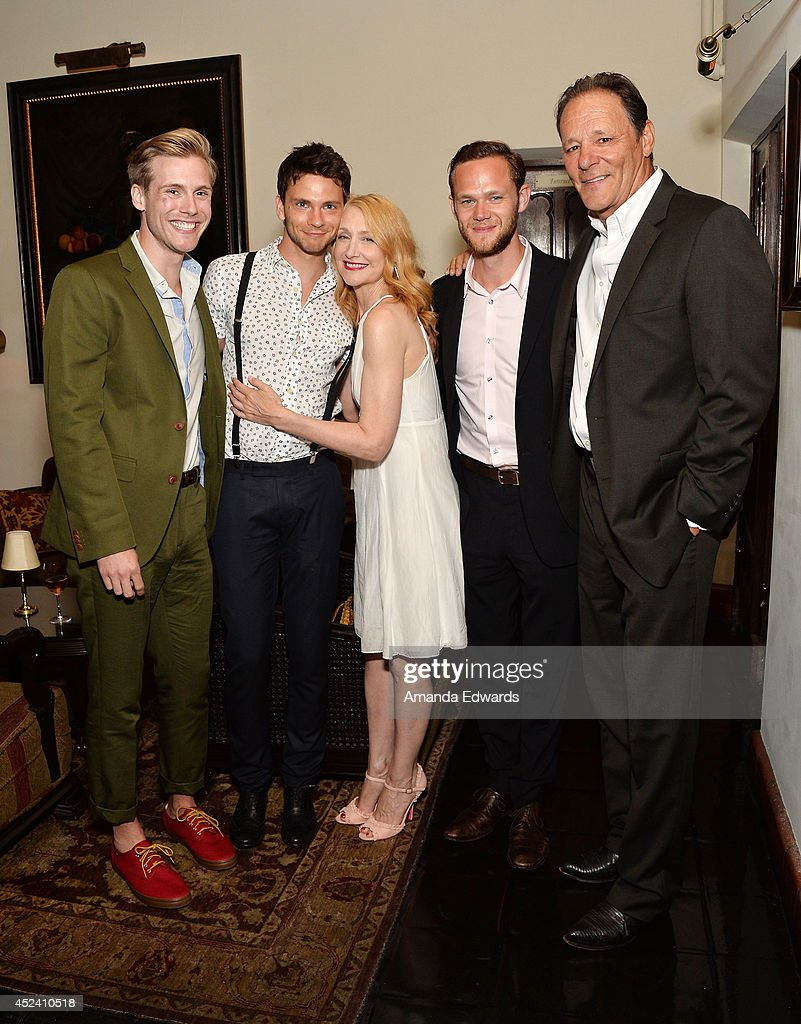 Actors Zachary Booth, Devon Graye, Patricia Clarkson, Joseph Cross and Chris Mulkey arrive at the Water's End Productions and Gran Via Productions Film 'Last Weekend' cast dinner at Chateau Marmont on July 19, 2014 in Los Angeles, California.
