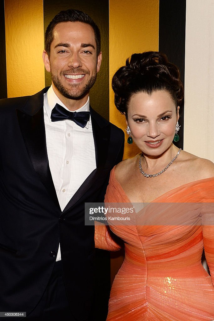 Actors <a gi-track='captionPersonalityLinkClicked' href=/galleries/search?phrase=Zachary+Levi&family=editorial&specificpeople=242766 ng-click='$event.stopPropagation()'>Zachary Levi</a> (L) and <a gi-track='captionPersonalityLinkClicked' href=/galleries/search?phrase=Fran+Drescher&family=editorial&specificpeople=201602 ng-click='$event.stopPropagation()'>Fran Drescher</a> attend the 68th Annual Tony Awards at Radio City Music Hall on June 8, 2014 in New York City.