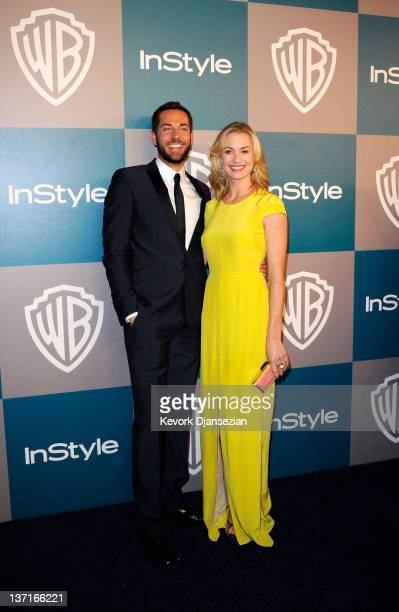 Actors Zachary Levi and Yvonne Strahovski arrive at 13th Annual Warner Bros And InStyle Golden Globe Awards After Party at The Beverly Hilton hotel...