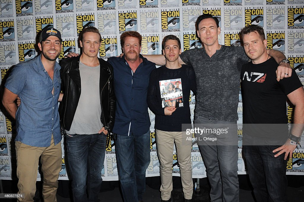 Actors Zachary Levi Sam Heughan Michael Cudlitz Jordan Gavaris Kevin Durand and Robert Kazinsky attend the Entertainment Weekly Brave New Warriors...