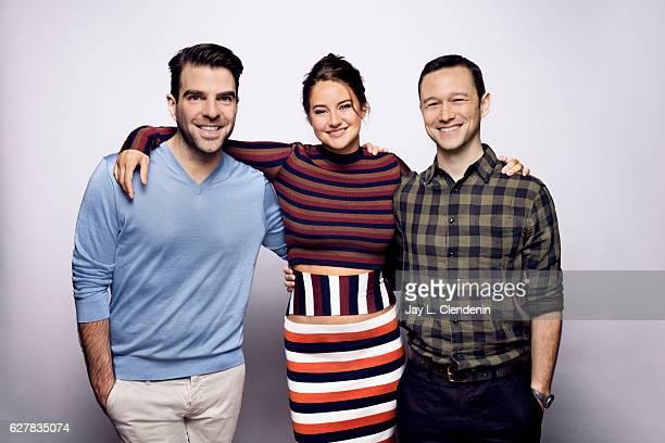 Actors Zachary Quinto Shailene Woodley and Joseph GordonLevitt of the film 'Snowden' pose for a portraits at the Toronto International Film Festival...