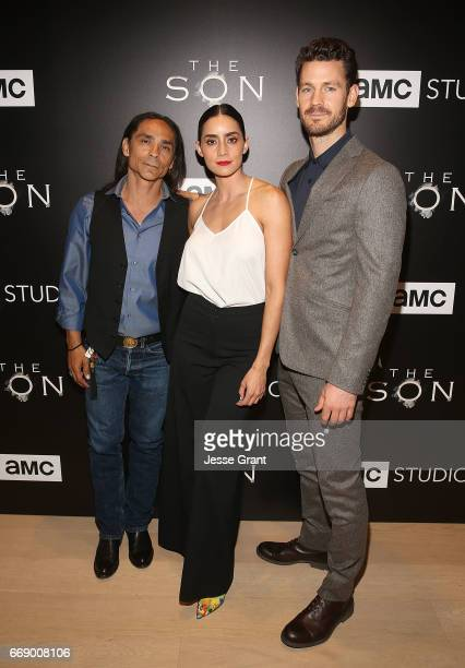 Actors Zahn McClarnon Paola Nunez and Henry Garrett attend AMC's 'The Son' FYC Screening Panel Discussion on April 15 2017 in Los Angeles California