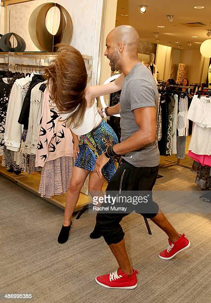 Actors Zelda Williams and Ricky Whittle break out in dance during Neiman Marcus and Teen Vogue celebrate McQ's Spring Collection hosted by Zelda...