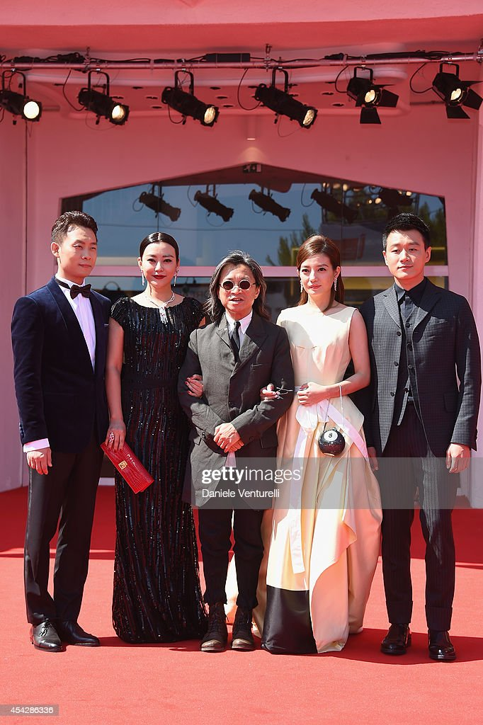 Actors <a gi-track='captionPersonalityLinkClicked' href=/galleries/search?phrase=Zhang+Yi+-+Actor&family=editorial&specificpeople=13530014 ng-click='$event.stopPropagation()'>Zhang Yi</a>, Lei Hao, director <a gi-track='captionPersonalityLinkClicked' href=/galleries/search?phrase=Peter+Chan&family=editorial&specificpeople=582345 ng-click='$event.stopPropagation()'>Peter Chan</a>, actors <a gi-track='captionPersonalityLinkClicked' href=/galleries/search?phrase=Zhao+Wei&family=editorial&specificpeople=540140 ng-click='$event.stopPropagation()'>Zhao Wei</a>, <a gi-track='captionPersonalityLinkClicked' href=/galleries/search?phrase=Tong+Dawei&family=editorial&specificpeople=4384400 ng-click='$event.stopPropagation()'>Tong Dawei</a> attend 'Dearest' (Quin'ai De) Premiere during the 71st Venice Film Festival on August 28, 2014 in Venice, Italy.
