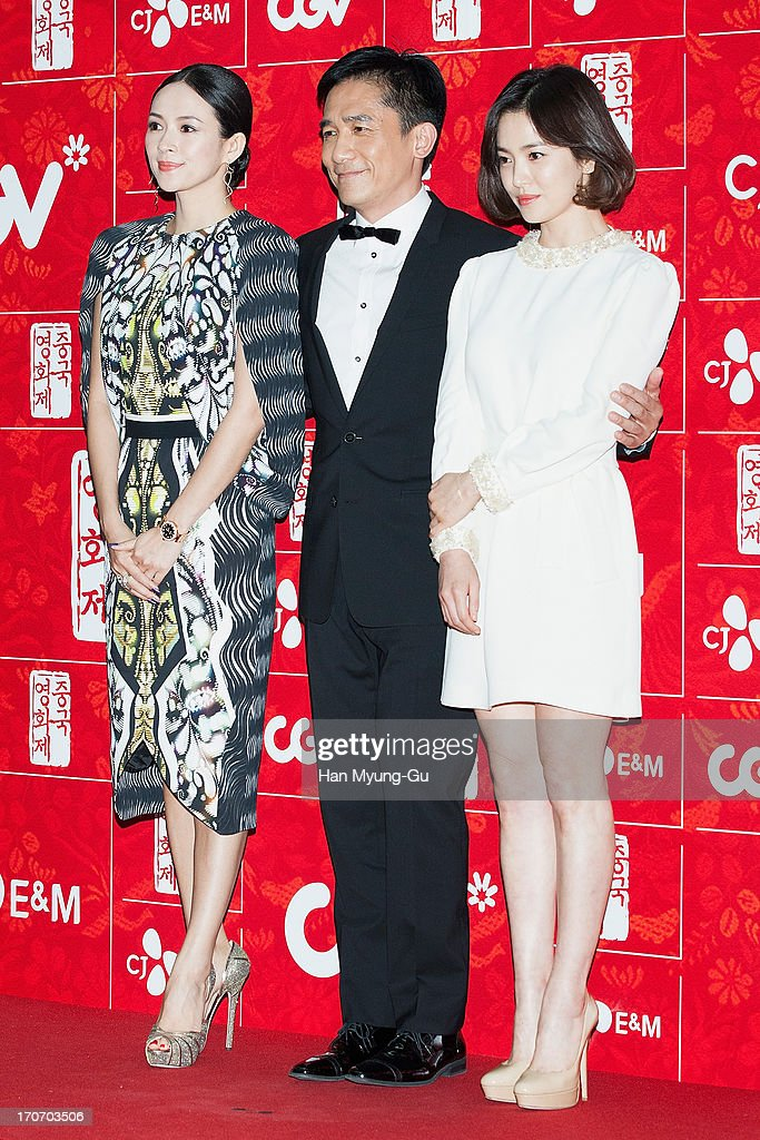 Actors Zhang Ziyi, Tony Leung Chiu Wai and Song Hye-Kyo arrive during the 2013 Chinese Film Festival opening ceremony at Yeouido CGV on June 16, 2013 in Seoul, South Korea. The festival will showcases 11 films and runs from June 16-20 in South Korea.