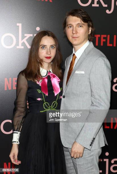 Actors Zoe Kazan and Paul Dano attend The New York premiere of 'Okja' hosted by Netflix at AMC Lincoln Square Theater on June 8 2017 in New York City