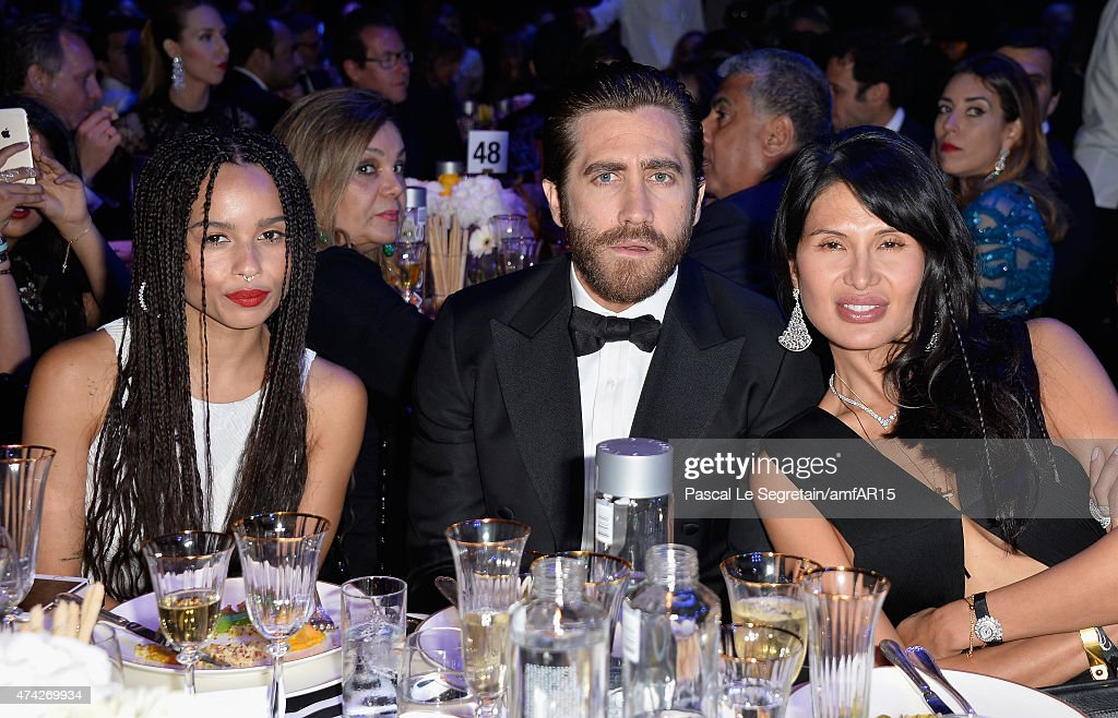 Actors Zoe Kravitz Jake Gyllenhaal and CEO Vionnet Goga Ashkenazi attend amfAR's 22nd Cinema Against AIDS Gala Presented By Bold Films And Harry...
