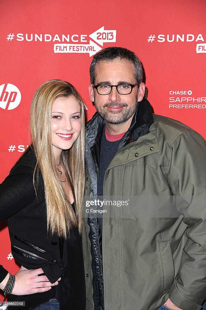 Actors Zoe Levin and <a gi-track='captionPersonalityLinkClicked' href=/galleries/search?phrase=Steve+Carell&family=editorial&specificpeople=595491 ng-click='$event.stopPropagation()'>Steve Carell</a> attend the 'The Way, Way Back' premiere at Eccles Center Theatre during the 2013 Sundance Film Festival on January 21, 2013 in Park City, Utah.