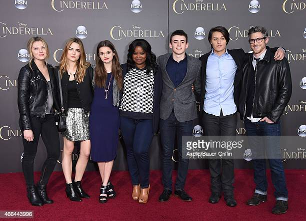 Actors Zoe Levin Rebecca Rittenhouse Ciara Bravo Octavia Spencer Charlie Rowe Nolan Sotillo and Dave Annable of Red Band Society arrive at the World...
