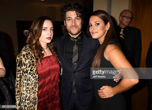 Actors Zoe ListerJones and Adam Pally and Angelique Cabral attend HBO's Official Golden Globe Awards After Party at Circa 55 Restaurant on January 8...