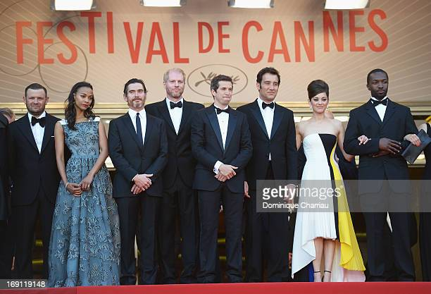 Actors Zoe Saldana Billy Crudup Noah Emmerich director Guillaume Canet actor Clive Owenand actress Marion Cotillard attend the Premiere of 'Blood...