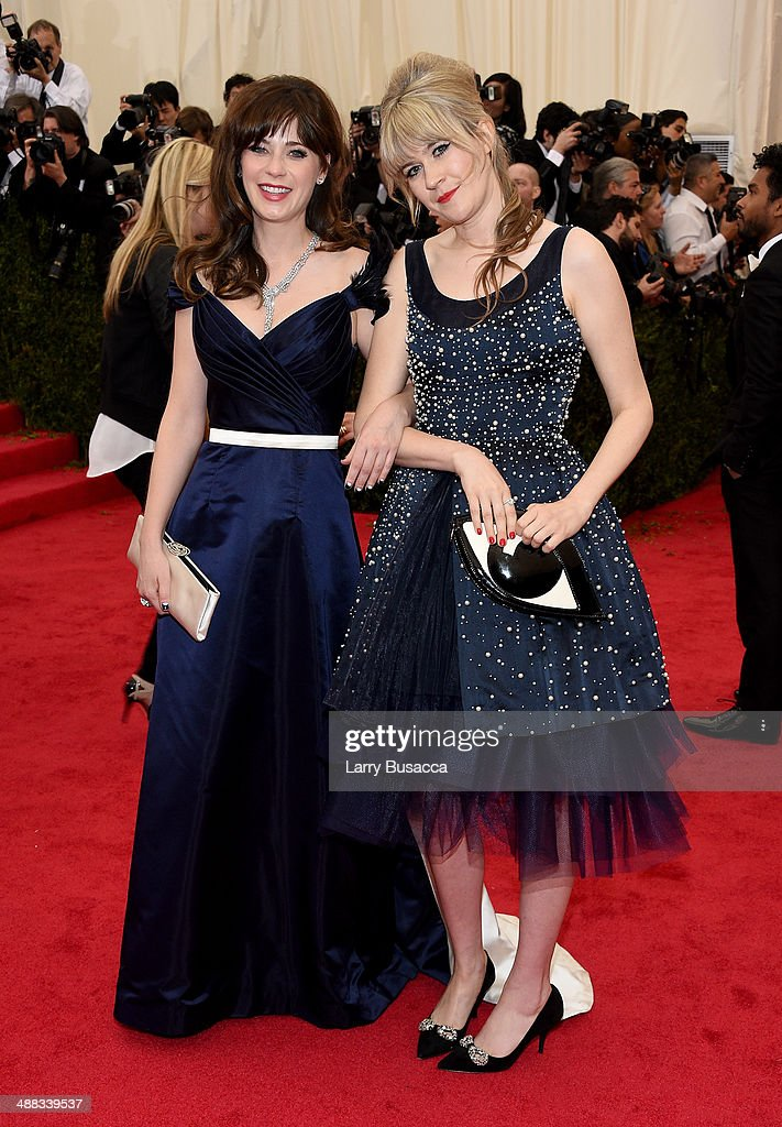 Actors Zooey Deschanel and Tennessee Thomas attend the 'Charles James Beyond Fashion' Costume Institute Gala at the Metropolitan Museum of Art on May...