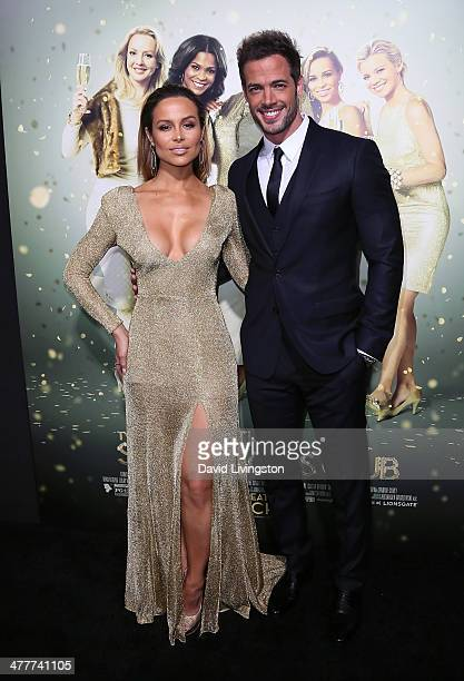 Actors Zulay Henao and William Levy attend the premiere of Tyler Perry's 'The Single Moms Club' at the ArcLight Cinemas Cinerama Dome on March 10...