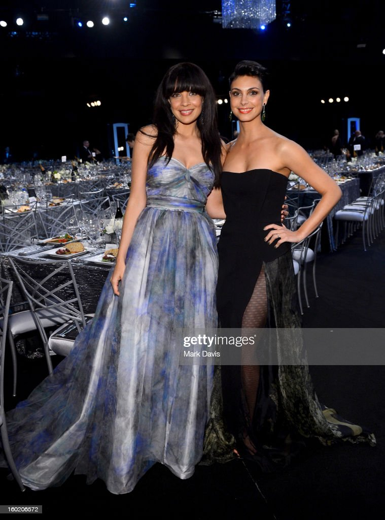Actors Zuleikha Robinson and Morena Baccarin attend the 19th Annual Screen Actors Guild Awards cocktail reception at The Shrine Auditorium on January...