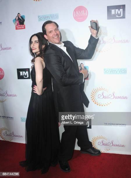 Actors/bloggers Vida Ghaffari and Ford Austin at Sai Suman's Official Hollywood Runway Fashion Show held at Sofitel Hotel on April 11 2017 in Los...