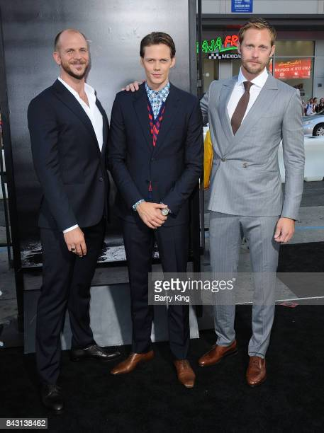 Actors/brothers Gustaf Skarsgard Bill Skarsgard and Alexander Skarsgard attend the premiere of Warner Bros Pictures and New Line Cinemas' 'It' at TCL...