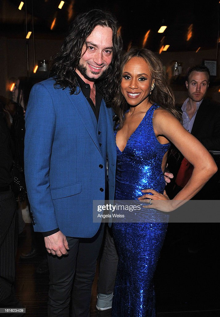 Actors/cast members Constantine Maroulis and Deborah Cox attend the opening night of 'Jekyll & Hyde' held at Beso on February 12, 2013 in Hollywood, California.