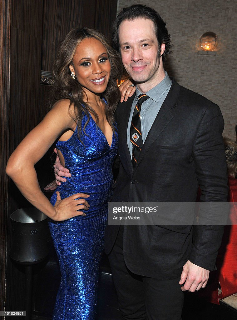 Actors/cast members Deborah Cox and Laird Mackintosh attend the opening night after party of 'Jekyll & Hyde' held at Beso on February 12, 2013 in Hollywood, California.
