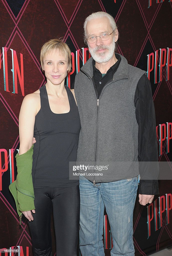 Actors/cast members Terrence Mann and <a gi-track='captionPersonalityLinkClicked' href=/galleries/search?phrase=Charlotte+d%27Amboise&family=editorial&specificpeople=3948886 ng-click='$event.stopPropagation()'>Charlotte d'Amboise</a> attend the 'Pippin' Broadway Open Press Rehearsal at Manhattan Movement & Arts Center on March 8, 2013 in New York City.