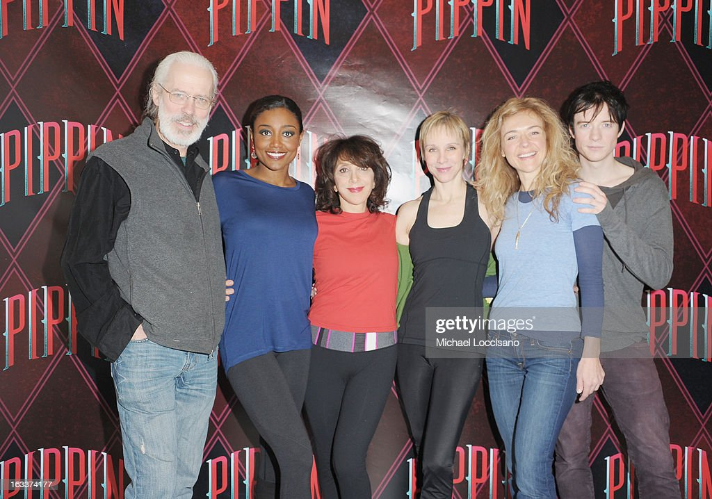 Actors/cast members Terrence Mann, <a gi-track='captionPersonalityLinkClicked' href=/galleries/search?phrase=Patina+Miller&family=editorial&specificpeople=5748190 ng-click='$event.stopPropagation()'>Patina Miller</a>, Andrea Martin, <a gi-track='captionPersonalityLinkClicked' href=/galleries/search?phrase=Charlotte+d%27Amboise&family=editorial&specificpeople=3948886 ng-click='$event.stopPropagation()'>Charlotte d'Amboise</a>, Rachel Bay Jones and Matthew James Thomas attend the 'Pippin' Broadway Open Press Rehearsal at Manhattan Movement & Arts Center on March 8, 2013 in New York City.