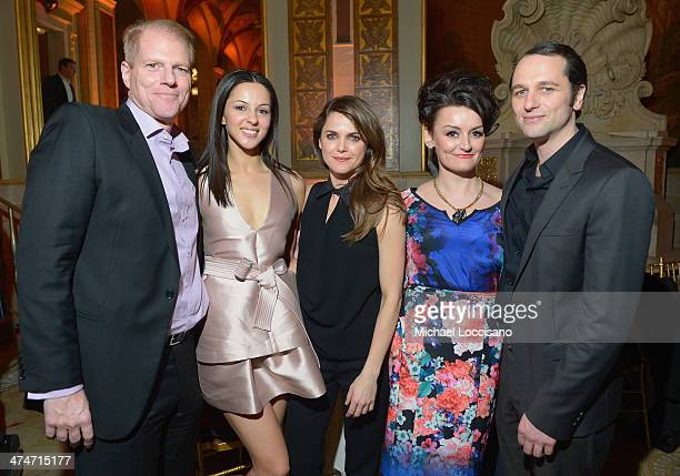 Actors/castmembers Noah Emmerich Annet Mahendru Keri Russell Alison Wright and Matthew Rhys attends 'The Americans' season 2 premiere after party at...
