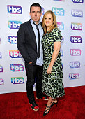 Actors/Comedians Jason Jones and Samantha Bee attend TBS Night Out LA at The Theater at The Ace Hotel on May 24 2016 in Los Angeles California...